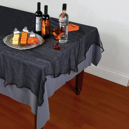 Black Cheesecloth Tablecover](Bulk Cheesecloth Halloween)