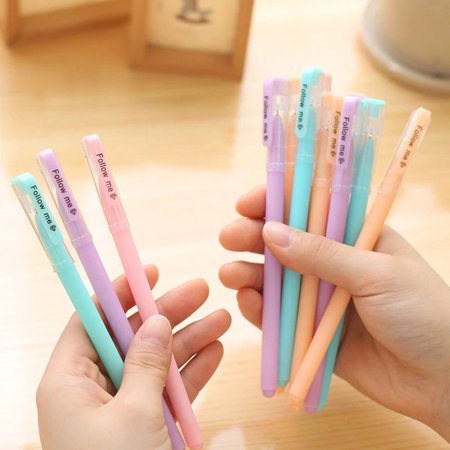 Creative Candy Color Pen Plastic Gel Pen Smooth Water Durable Office - image 5 of 6