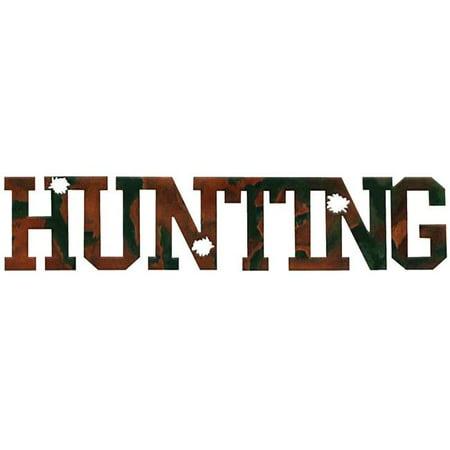 7055 700371828714 Hunting Word Metal Wall Art - image 1 of 1