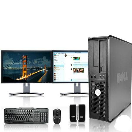 - Dell Optiplex Desktop Computer 3.0 GHz Core 2 Duo Tower PC, 4GB RAM, 250 GB HDD, Windows 10, ATI , Dual 19