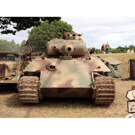 Canvas Print Panzer V, Panther Stretched Canvas 10 x 14