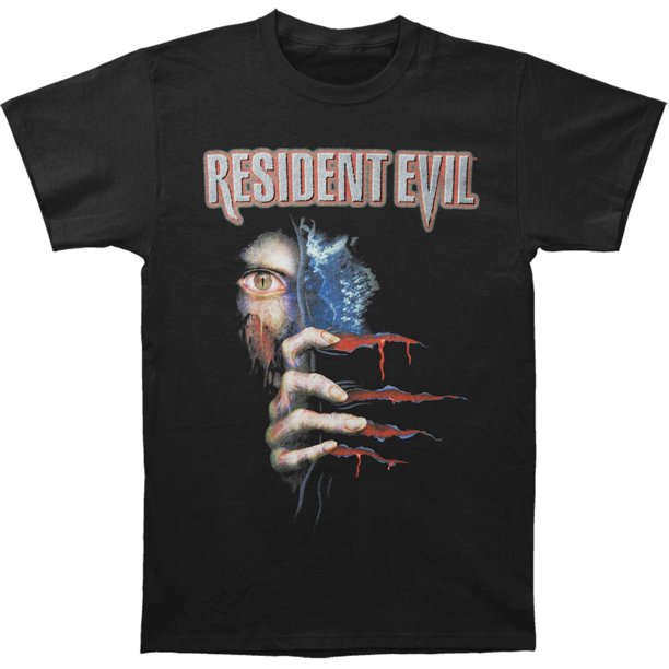 Resident Evil Men's  Peekin Slim Fit T-shirt Black
