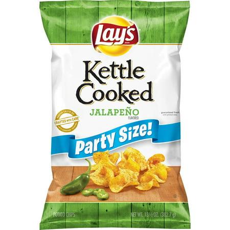 Lay's Kettle Cooked Jalapeno Potato Chips, 13.5 Oz. Jalapeno Cheddar Potato