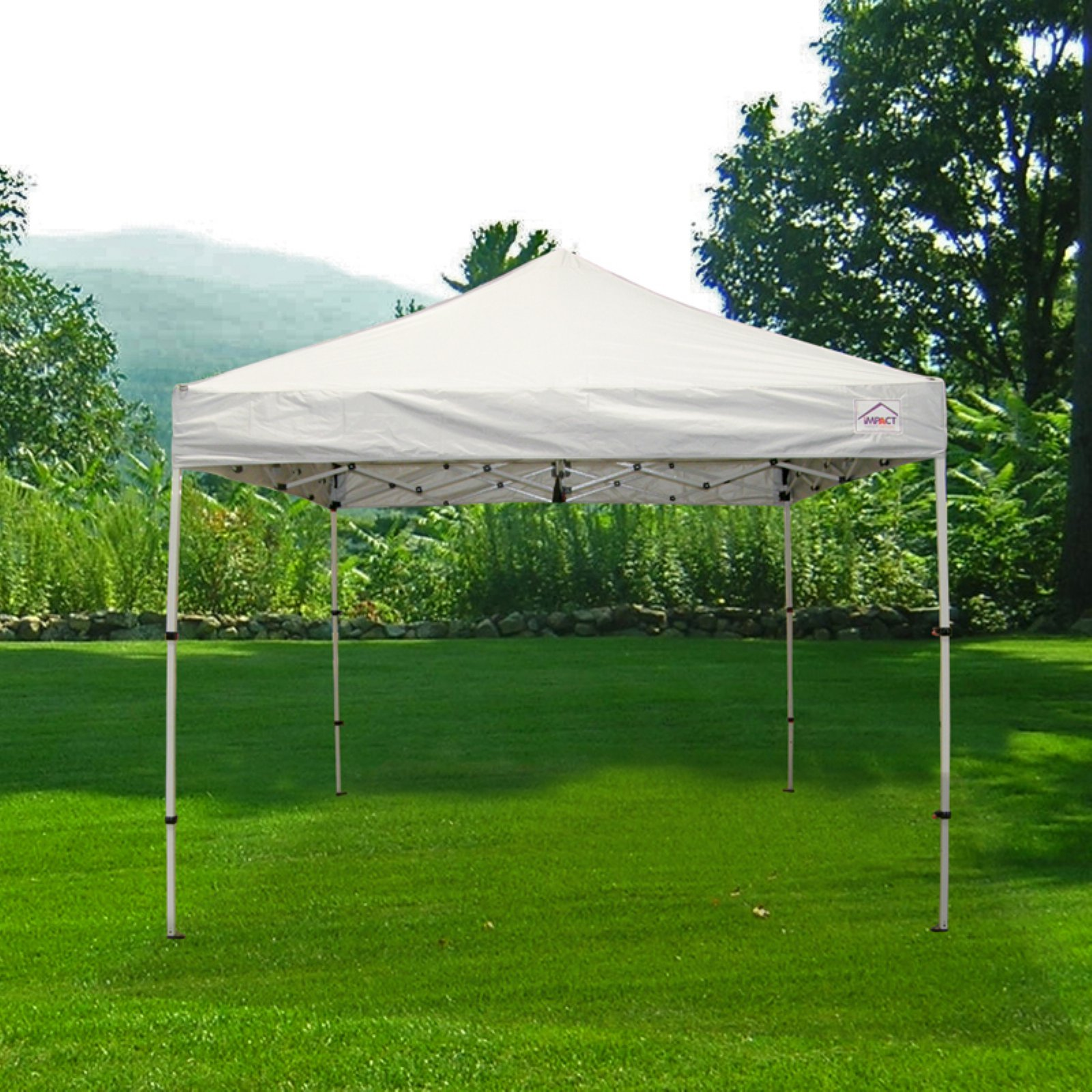 Impact Canopy 10 x 10 ft. Pop Up Canopy Tent Folds To 42 in. & Impact Canopy 10 x 10 ft. Pop Up Canopy Tent Folds To 42 in. Tall ...