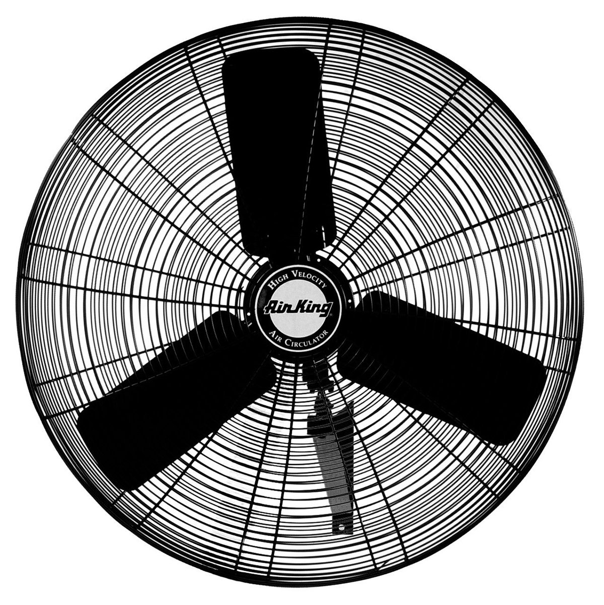 "Air King 24"" Blade 1/4 HP 3-Speed Enclosed Industrial Oscillating Wall Mount Fan"