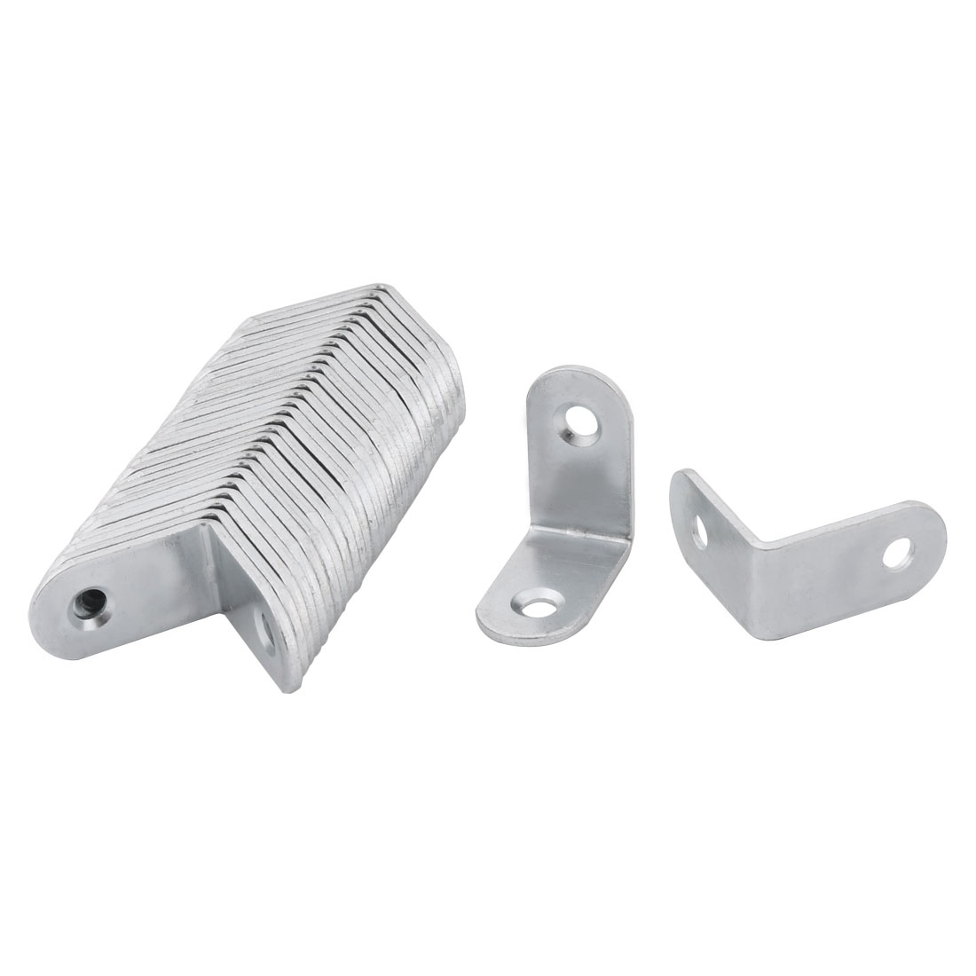 L Shaped Cabinet Cover Corner Guard Angle Bracket Protector Silver Tone 30pcs by Unique-Bargains
