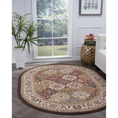 Alise Rugs  Lagoon Transitional Oriental Oval Area Rug - multi - 5