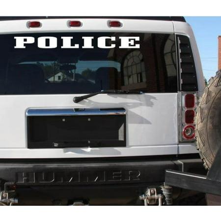 Police Sticker Decal 6x30