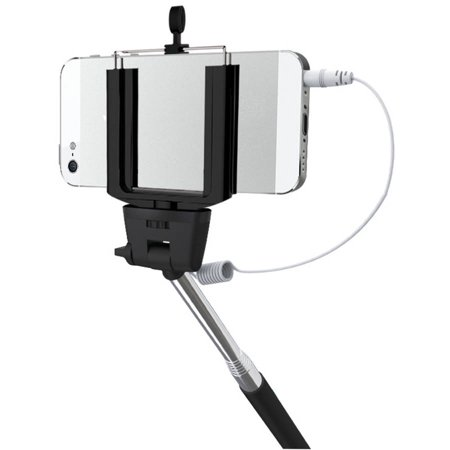 hype wired mobile selfie stick with shutter button black deal details br. Black Bedroom Furniture Sets. Home Design Ideas