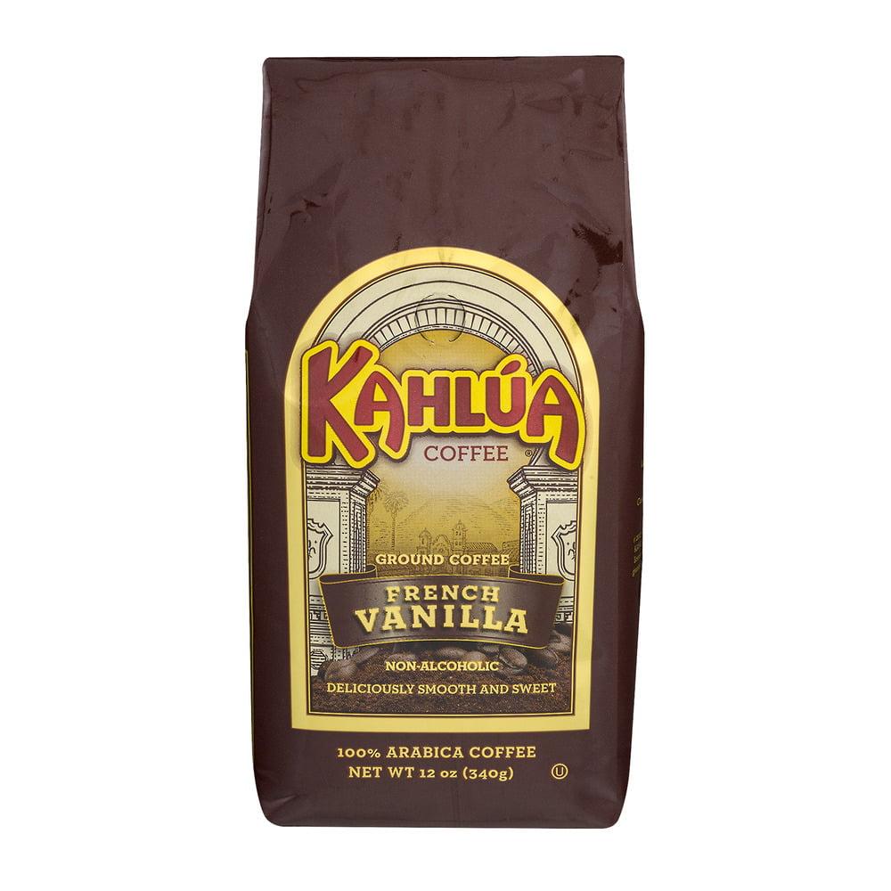Kahlua Coffee Ground Coffee French Vanilla, 12.0 OZ