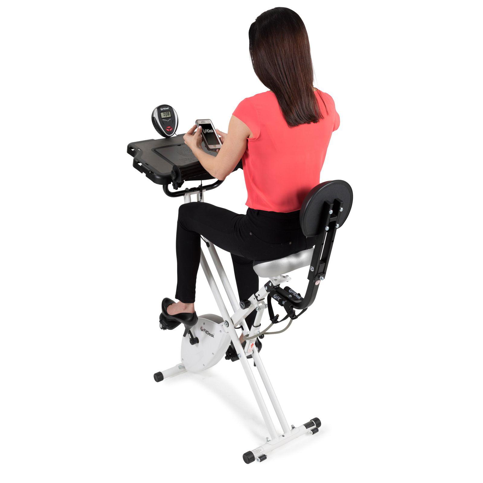Fitdesk V3 0 Exercise Bike Desk Gym Fitness With Tablet Holder Home