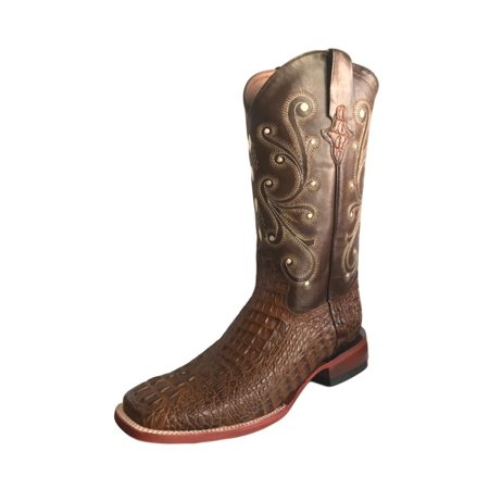 Ferrini Western Boots Mens Caiman Gator Cowboy Sport Rust 40393-23 (Gator Skin Cowboy Boots)