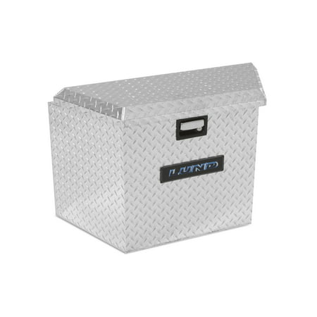 Lund 6134T 21-Inch Aluminum Trailer Tongue Truck Box, Diamond Plated, Silver Aluminum Diamond Plate Tool Box