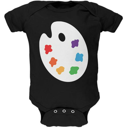 Halloween Artist Palette  Costume Soft Baby One Piece (Baby Twin Halloween Costumes)