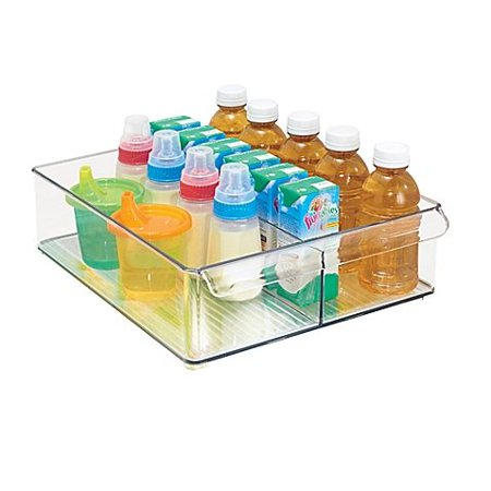 Fridge Binz 12-Inch x 15-Inch Divided Deep Tray l Easy to Clean and Provide an Ideal storage, Fridge Binz Divided Deep Tray is made to slide on top.., By InterDesign 12' Slide Top Feeder