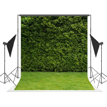 GreenDecor Polyster 5x7ft Green Grass Backdrops Photography Spring Nature Scenery Photo Studio Background for Birthday