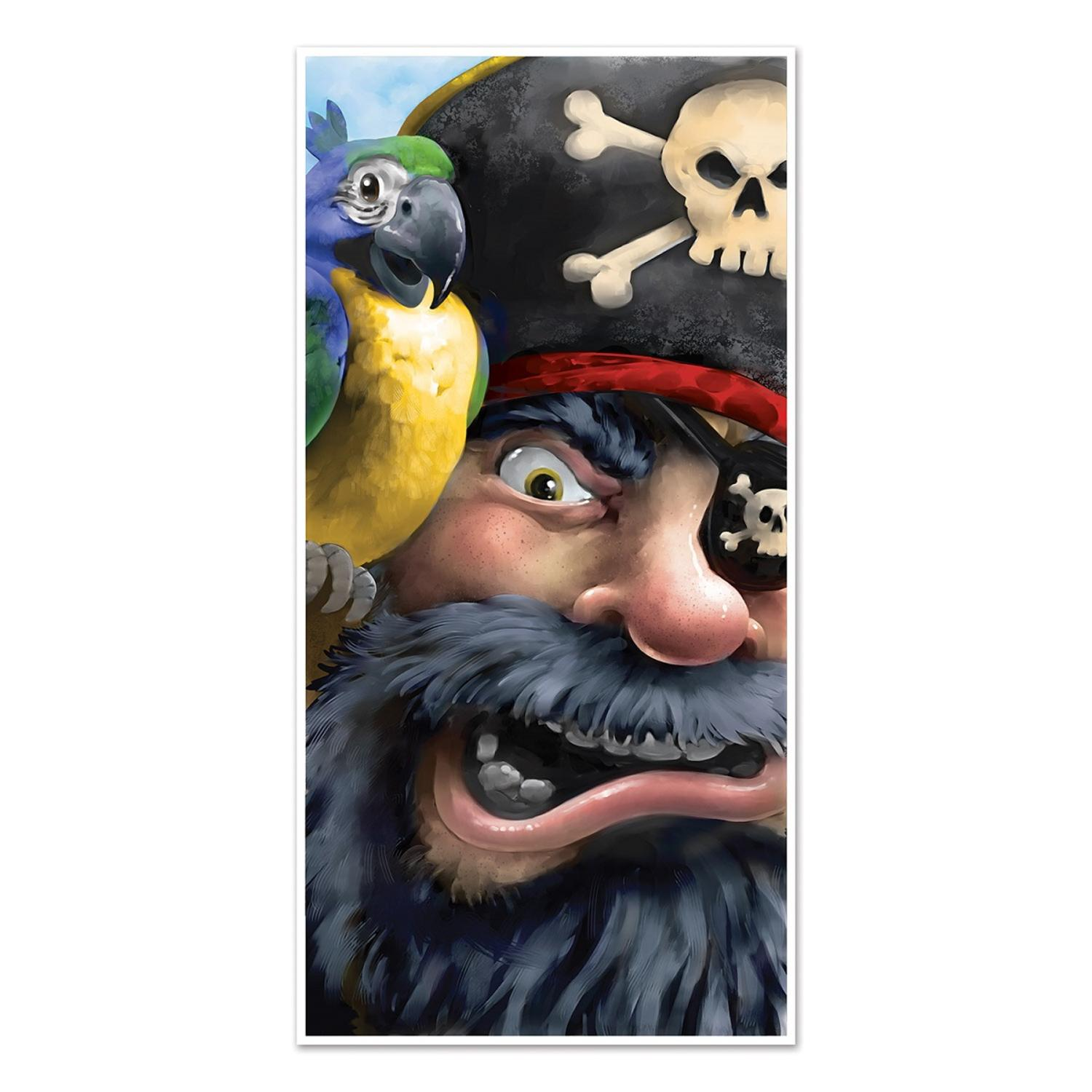 Club Pack of 12 Nautical Themed Pirate Door Cover Party Decorations 5'