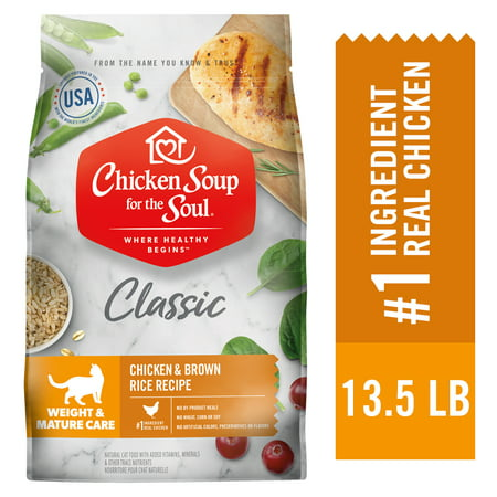 Chicken Soup Weight & Mature Care Dry Cat Food - Chicken & Brown Rice Recipe (Chicken Soup For The Soul Cat Food Reviews)
