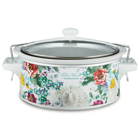 Pioneer Woman 6 Quart Portable Slow Cooker by Hamilton Beach, Country Garden, Model# (Best Slow Cooker Brand Malaysia)