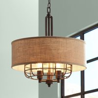 """Tremont 20"""" Wide Rust Pendant Light by Franklin Iron Works"""