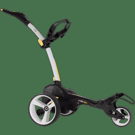 MGI Zip X1 Electric Golf Push Cart Swivel Wheel Caddie with Accessories, White