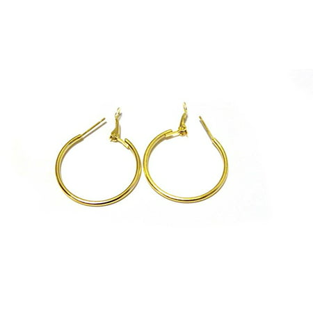 Estate Gold Tone Earrings (Small Hoop Earrings Gold tone Hoop Earrings 1 inch Hoop Earrings )