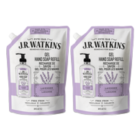 (Twin Pack) J.R. Watkins Liquid Hand Soap Refill, Lavender, 34 Ounce