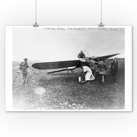 Flight Photo - Before Belriot's Flight over English Channel Photograph (9x12 Art Print, Wall Decor Travel Poster)