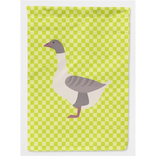 Carolines Treasures BB8075GF Buff Grey Back Goose Blue Check Flag Garden Size - image 1 de 1