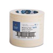 "Business Source 16460 Masking Tape - 0.50"" Width X 60 Yd Length - 3"" Core - 1 / Roll - Tan (BSN16472)"