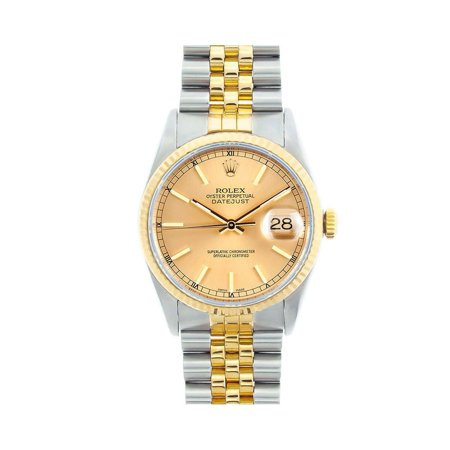 Pre-Owned Rolex Datejust 16233 Two Tone 36mm  Watch (Certified Authentic & Warranty) (Rolex Pre Owned Watches)