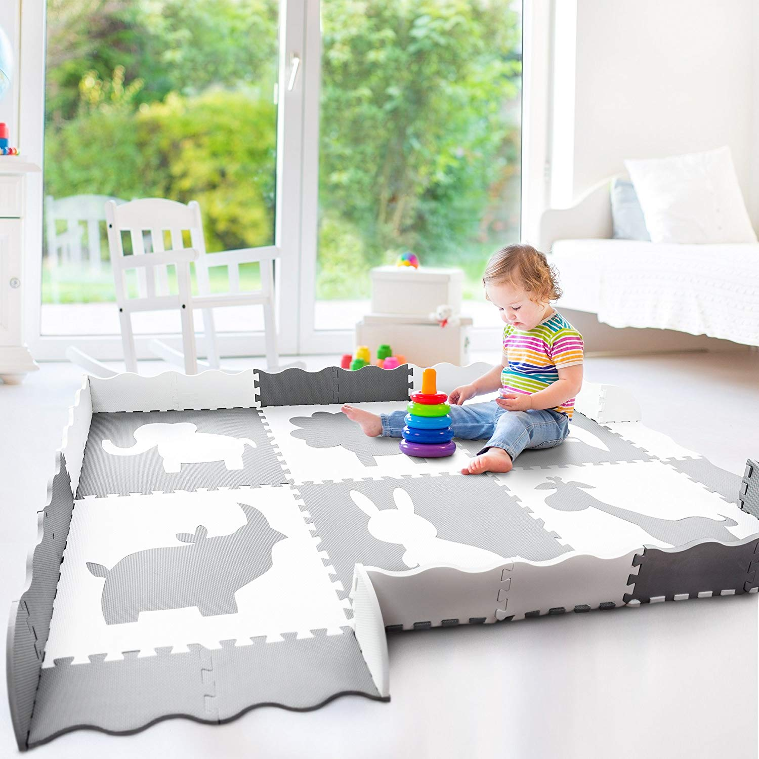 Charmant Large Baby Play Mat (5x7u0027) | Soft, Thick, Foam Floor Mat For ...