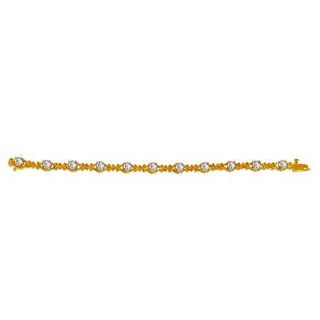 April Birthstone CZ Bracelet in 18K Yellow Gold Vermeil - image 2 of 2