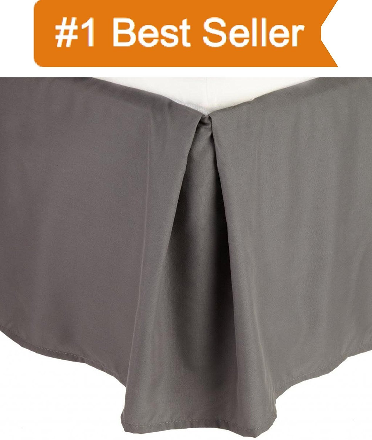 1500 Thread Count Wrinkle Resistant Egyptian Quality SOLID Bedskirt Pleated Tailored... by