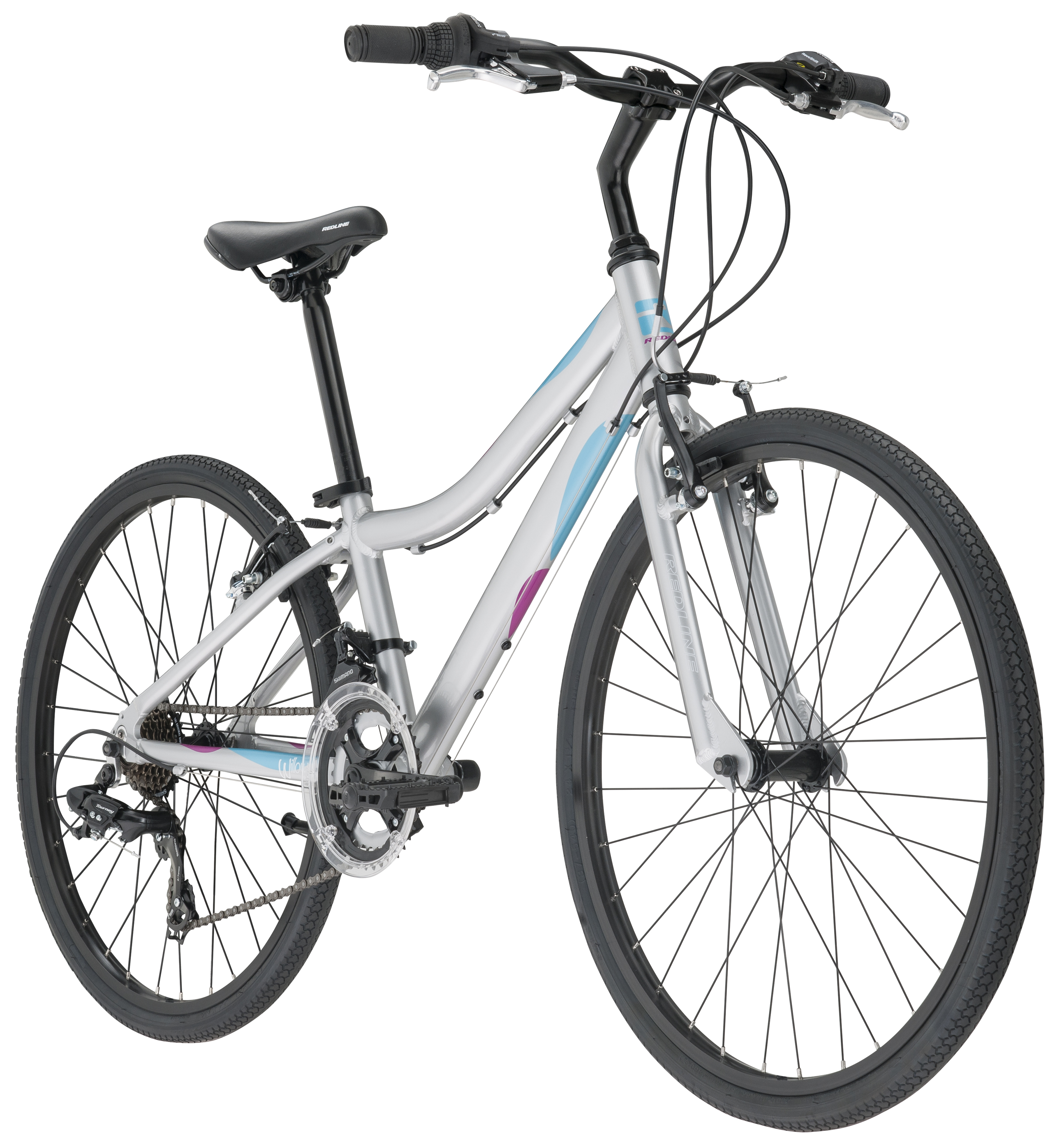 "Redline Bikes Willow 24 Girl's Performance Hybrid Bike, 24"" Wheels, Silver by ACCELL NORTH AMERICA INC"