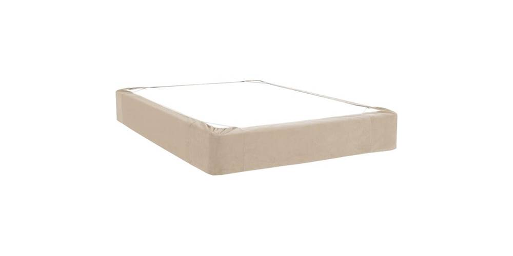 Box Spring Cover in Sand (Twin: 75 in. L x 38 in. W x 13.5 in. H (5 lbs.)) by Howard Elliott Collection