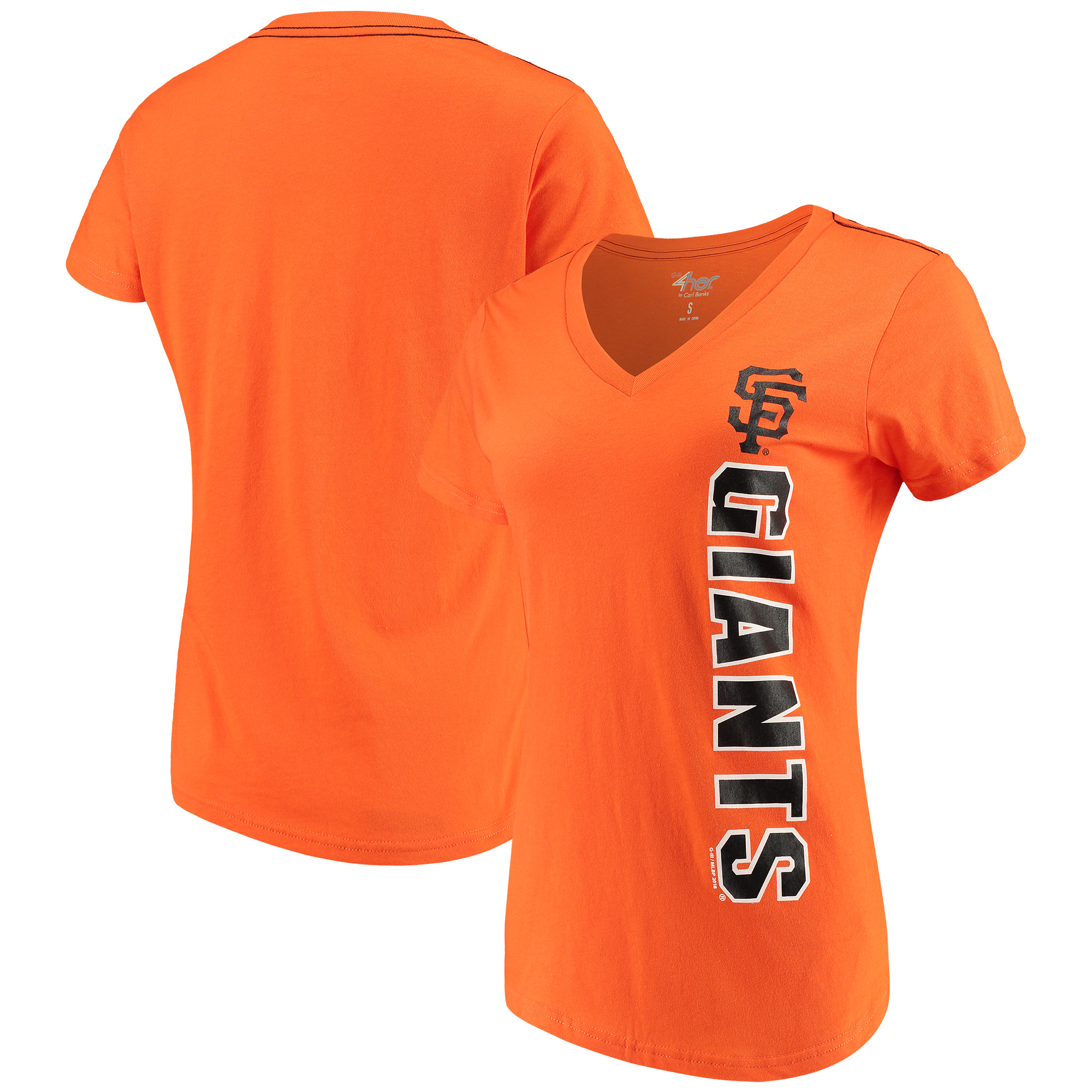 San Francisco Giants G-III 4Her by Carl Banks Women's Asterisk V-Neck T-Shirt - Orange