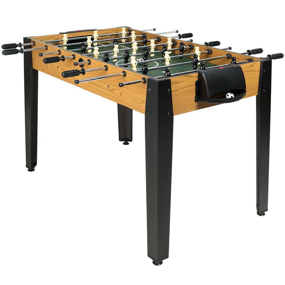 Gymax 48'' Competition Sized Wooden Soccer Foosball Table Home Recreation Adults & Kids