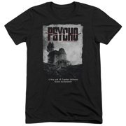 Psycho House Poster Mens Tri-Blend Short Sleeve Shirt