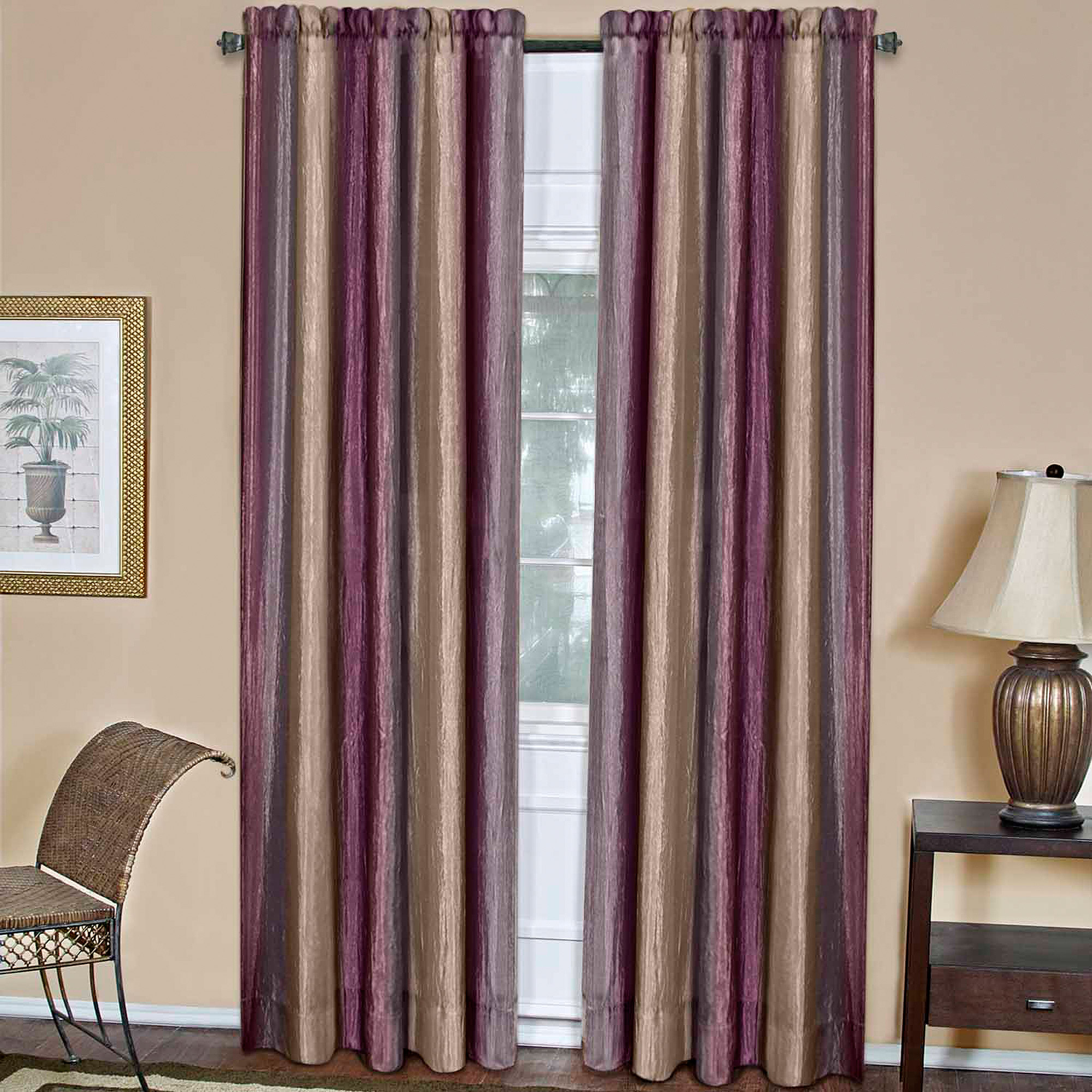 brown window curtains simple achim ombre window curtain panel walmartcom