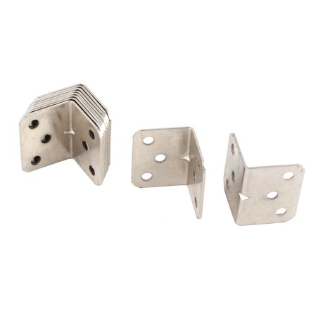 Parlour Metal Furniture Cabinet Corner Edge Guard Angle Brace Bracket 10pcs