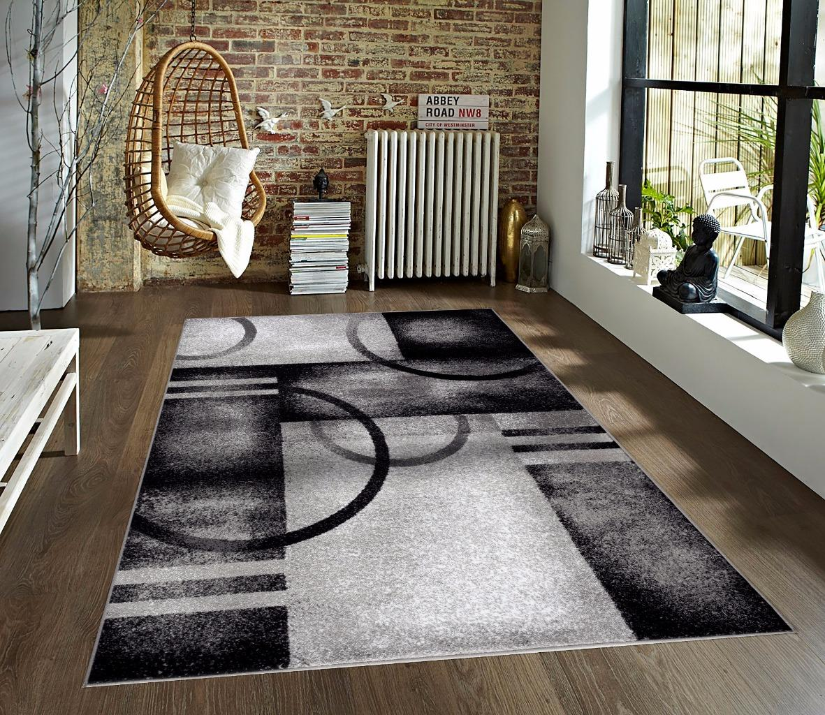 Persian Rugs 7030 Gray Modern Abstract Area Rug 8x10