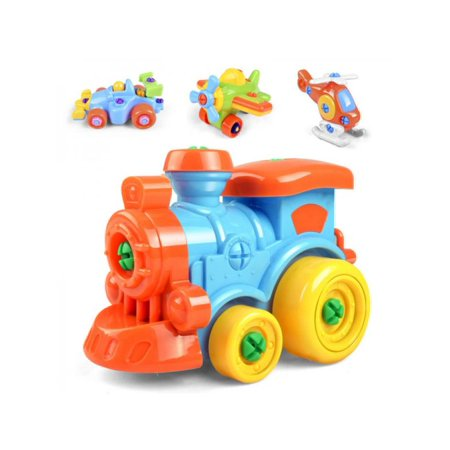 Lavaport Kid's Take-Apart Platic Toys Disassembly Assemble Car Airplane with -