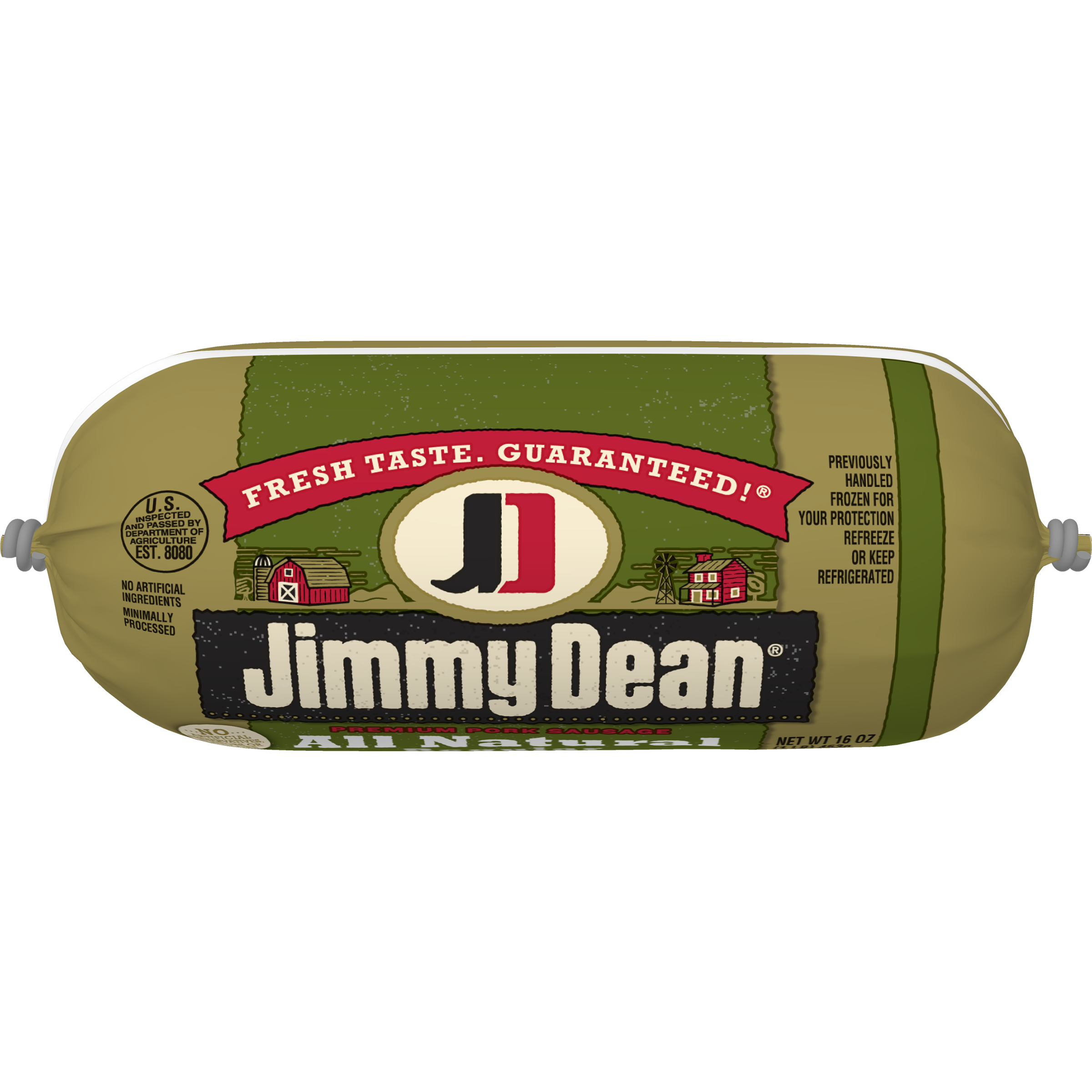 Jimmy Dean® Premium All-Natural Pork Sausage Roll, 16 oz.