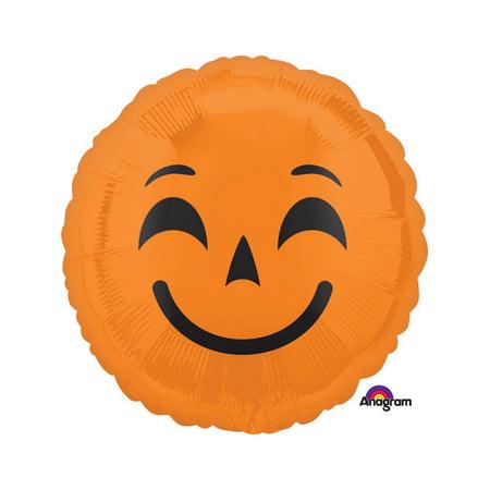 Halloween Pumpkin Emoji Foil Balloon