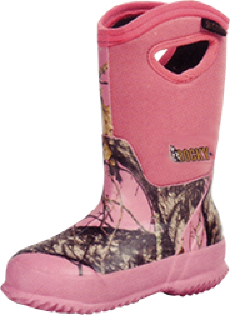 Rocky Adolescent Core Rubber Boot 400G M.O.Pink Size 5 by ROCKY BRANDS WHOLESALE LLC