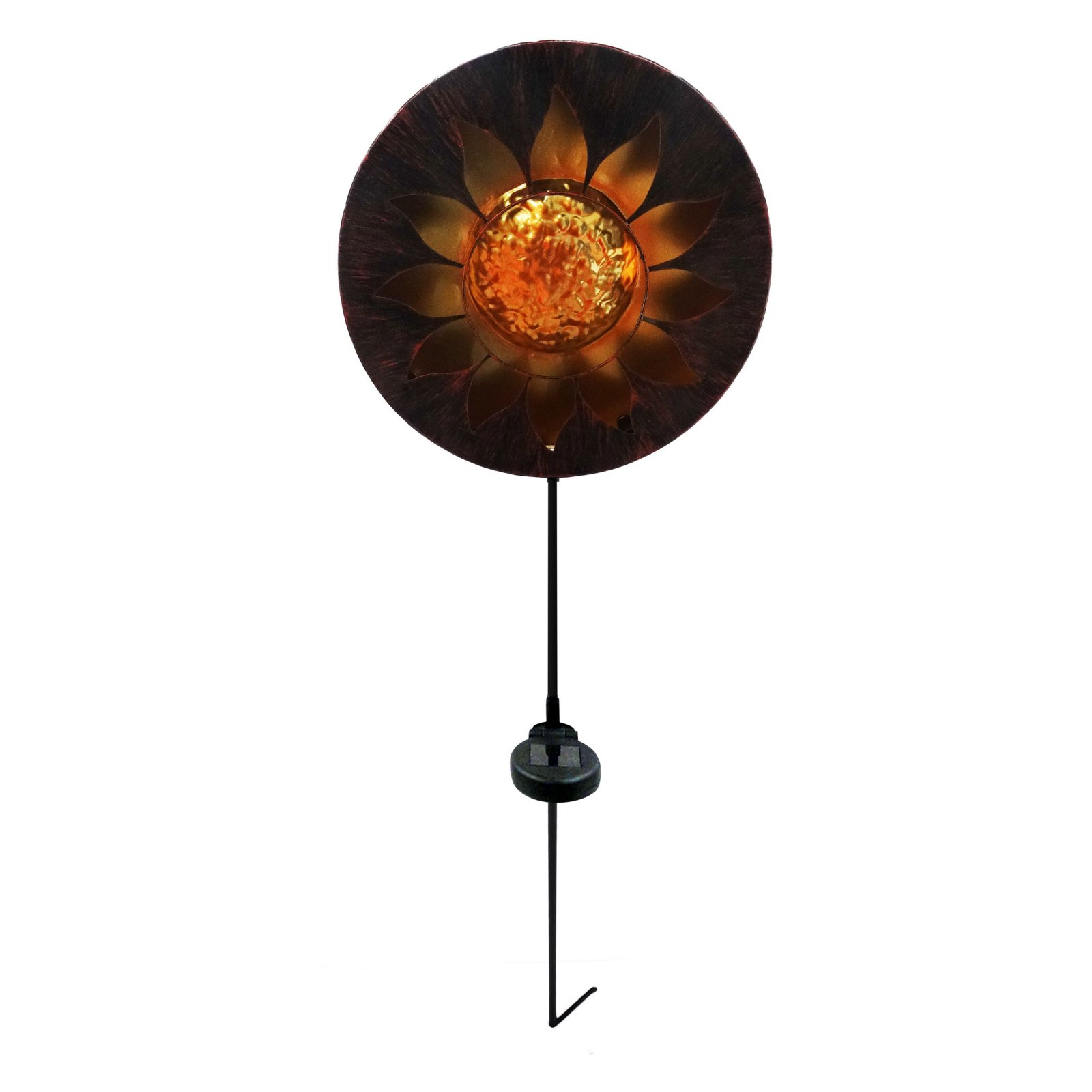 Solar Sun Garden Stake with LED Lights -TM by Alpine Corporation