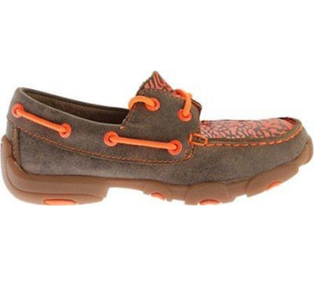 Color:Yellow Orange Size:6 US Twisted X Childrens RIO Cowkids Leather Moccasin