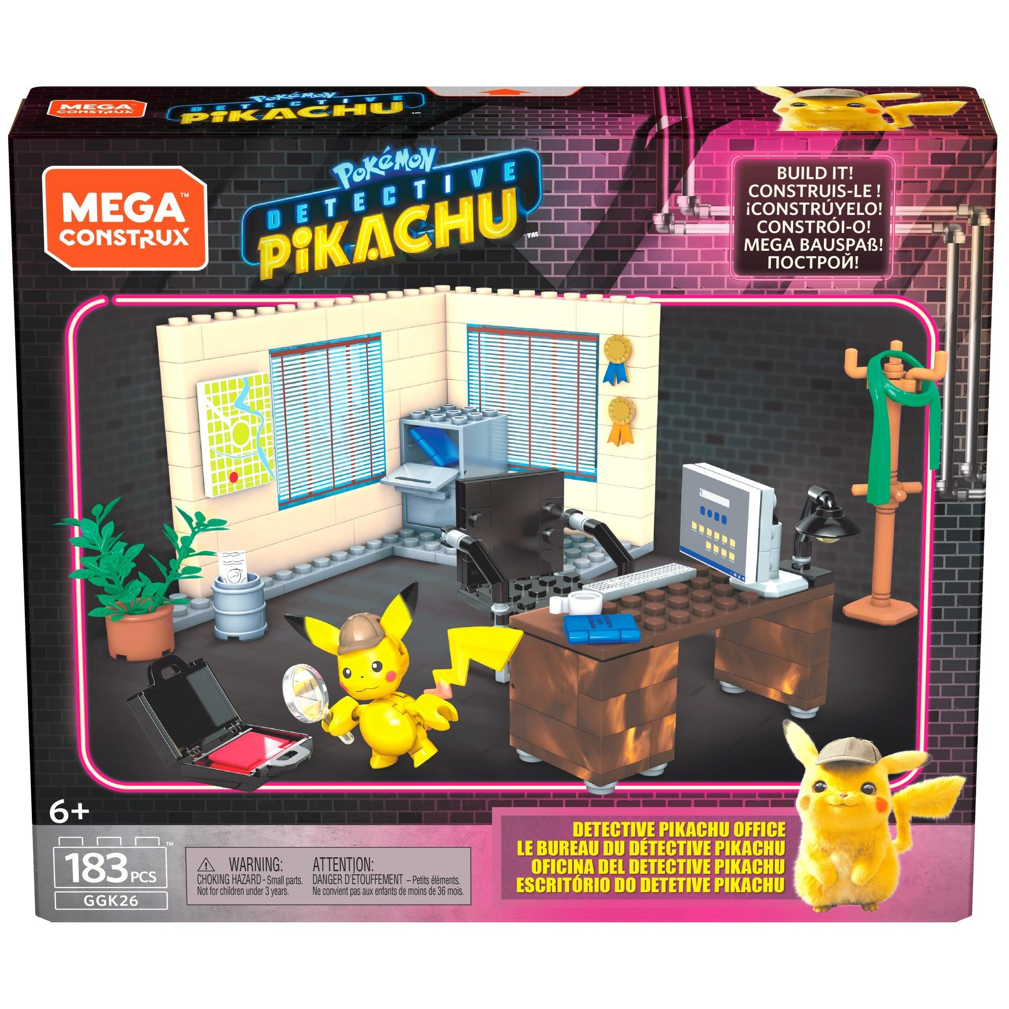 Mega Construx Pokemon Detective Pikachu Detective Pikachu's Office by Mattel