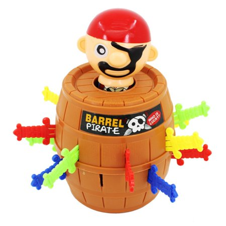 Funny Novelty Toy Pirate Barrel Party Game for Kids and Adults